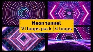 VJ Loops - Neon tunnel