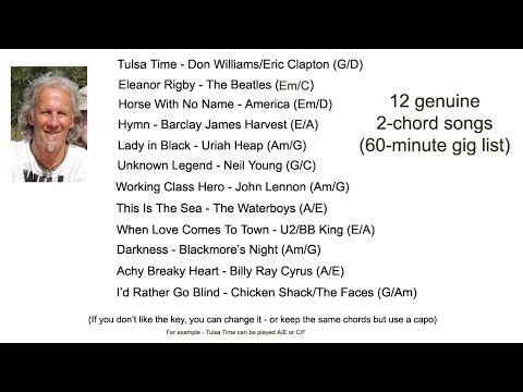 Guitar guitar chords with a smile : 12 cool 2-chord songs for acoustic guitar - YouTube