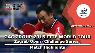 Zagreb Open 2015 Highlights: MORIZONO Masataka vs TAN Ruiwu (R 16)