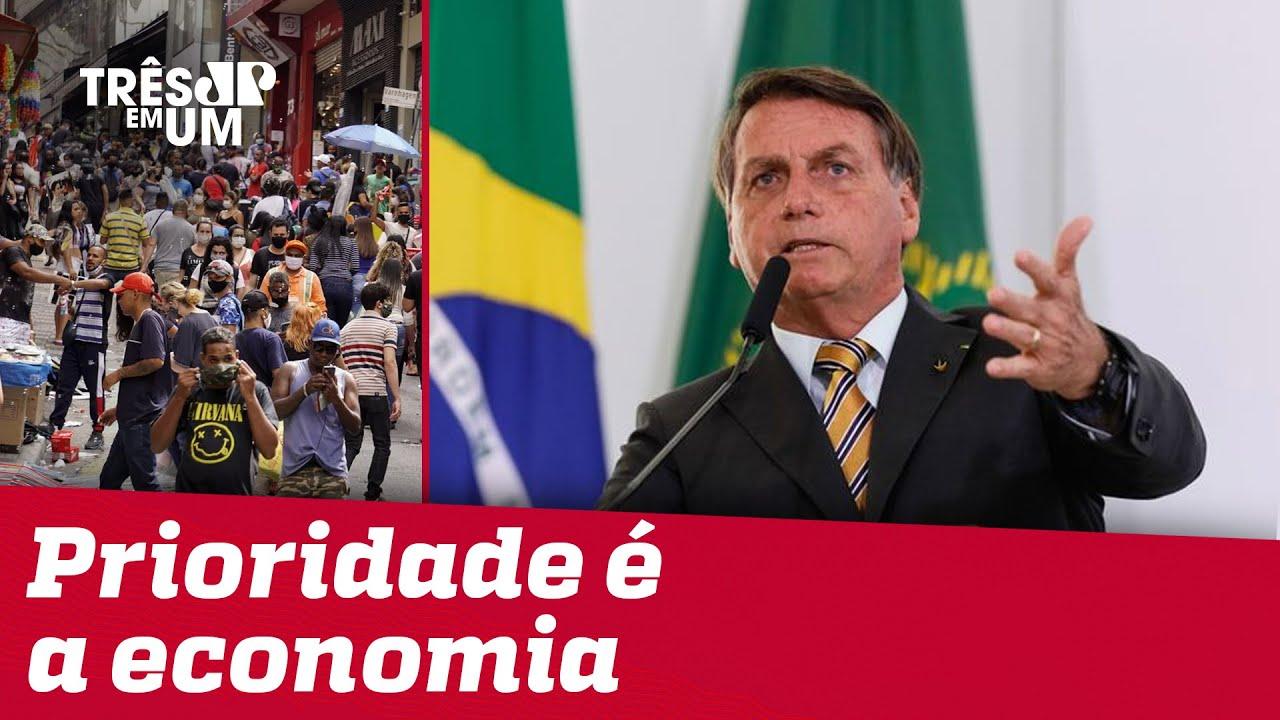 Bolsonaro diz que 2ª onda de COVID-19 no Brasil é conversinha