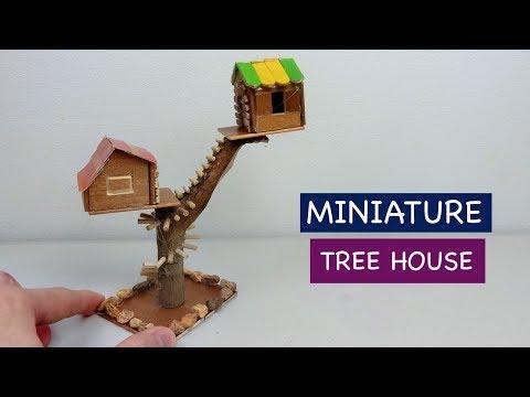 DIY Miniature Tree House | How to make a Fairy House – Craft ideas