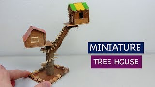 DIY Miniature Tree House | How to make a Fairy House - Craft ideas