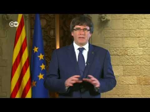 Separatistas catalanes protestan por que España cumple con la constitución