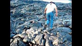 Fooling With Lava At Kilauea Volcano,Hawaii