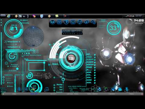 Hud digital rainmeter skins doovi for Bureau windows 7 rainmeter