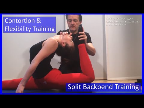 Contortion Training by Flexyart 136: Adv. Splitbackbends  - Also for Yoga, Poledance, Ballet, Dance