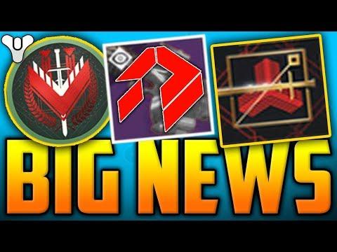 Destiny 2 BIG NEWS - PvP Prestige Ranks, Bounties Return, Luke Smith Naughty Step, Siva Shader