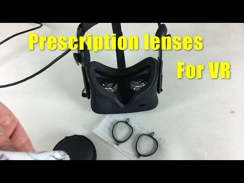 Prescription lenses for the Oculus Rift CV1 and HTC Vive