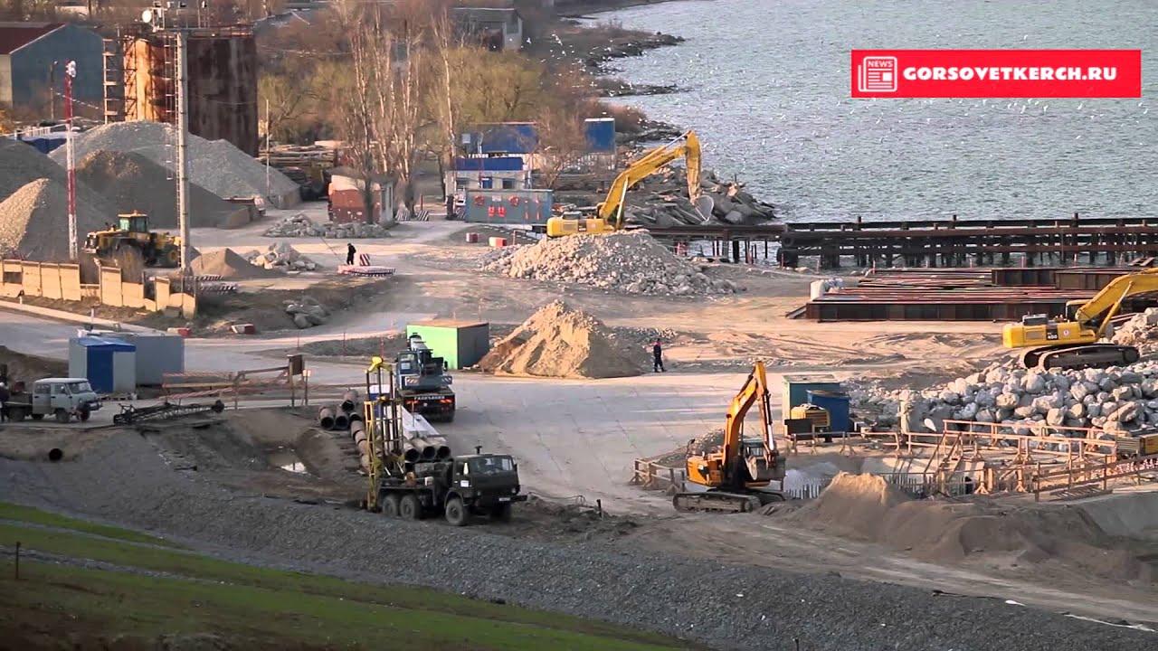 Керченский мост. Строительство продолжается. Самое свежее видео