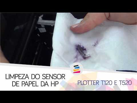 Limpeza do Sensor do Papel na Plotter HP T120, T130, T520, T530 e Similares - SULINK