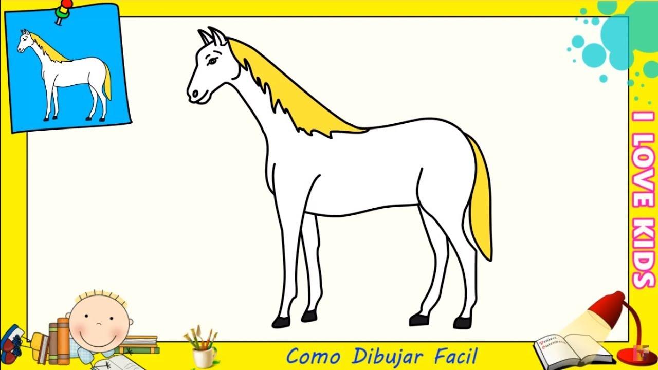 Como dibujar un caballo facil paso a paso para ni os y for Disegni 3d facili per bambini