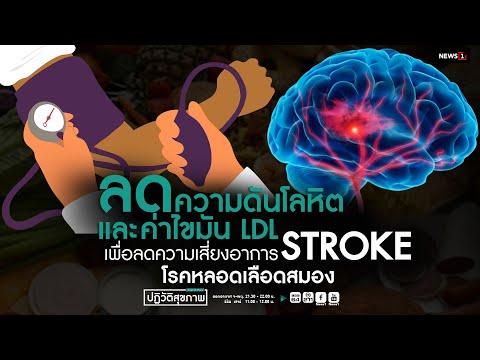 """"""" ลดความดันโลหิตและค่าไขมัน LDL  เพื่อลดความเสี่ยงอาการ STROKE โรคหลอดเลือดสมอง """""""