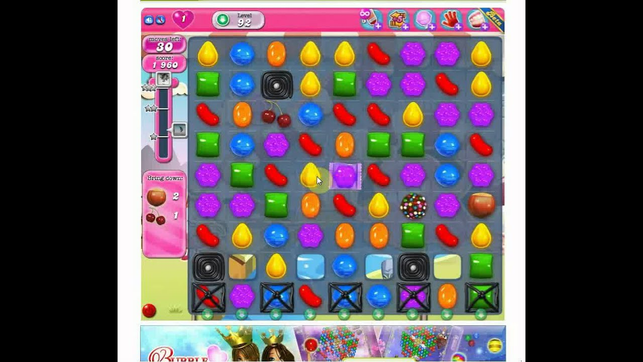 how to beat level 92 on candy crush