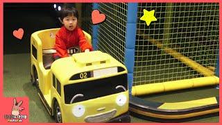 타요 키즈 카페 어린이 놀이 미니 간다 ♡ 타요버스 자동차 장난감 Tayo kids cafe toys тайо автобус Игрушки | 말이야와아이들 MariAndKids