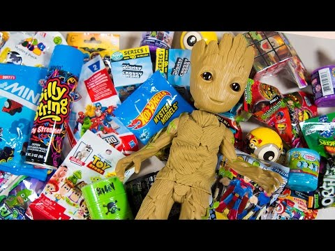 Thumbnail: HUGE Baby Groot Surprise Toy Opening Guardians of the Galaxy Toys for Boys Superhero Kinder Playtime