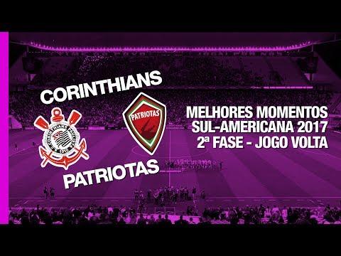 Melhores Momentos - Corinthians 2 x 0 Patriotas - Sul-Americana - 26/07/2017
