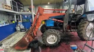 Ремонт трактора Беларус-82.1 с фронтальным погрузчиком после 6-ти лет эксплуатации