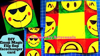 Emoji Paper Magic face changer Smiley Card DIY | Easy craft activity for kids | Origami art