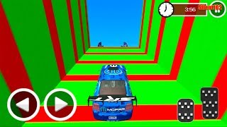 Ultimate Racing Derby Fast Car Stunts - Blue Car #3 - Impossible Car Stunts 3D - Android Gameplay