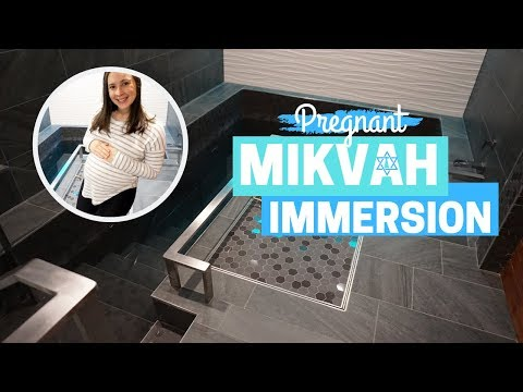 WHAT IS A MIKVAH? Visit The Mikvah With Me - 9th Month Of Pregnancy Immersion