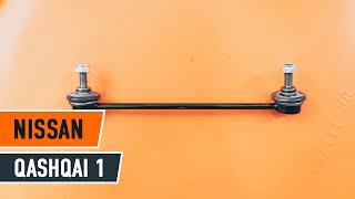 Hoe een koppelstang vooraan op een NISSAN QASHQAI 1 vervangen HANDLEIDING | AUTODOC