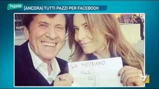 Selfie Selvaggia Lucarelli e Gianni Morandi: