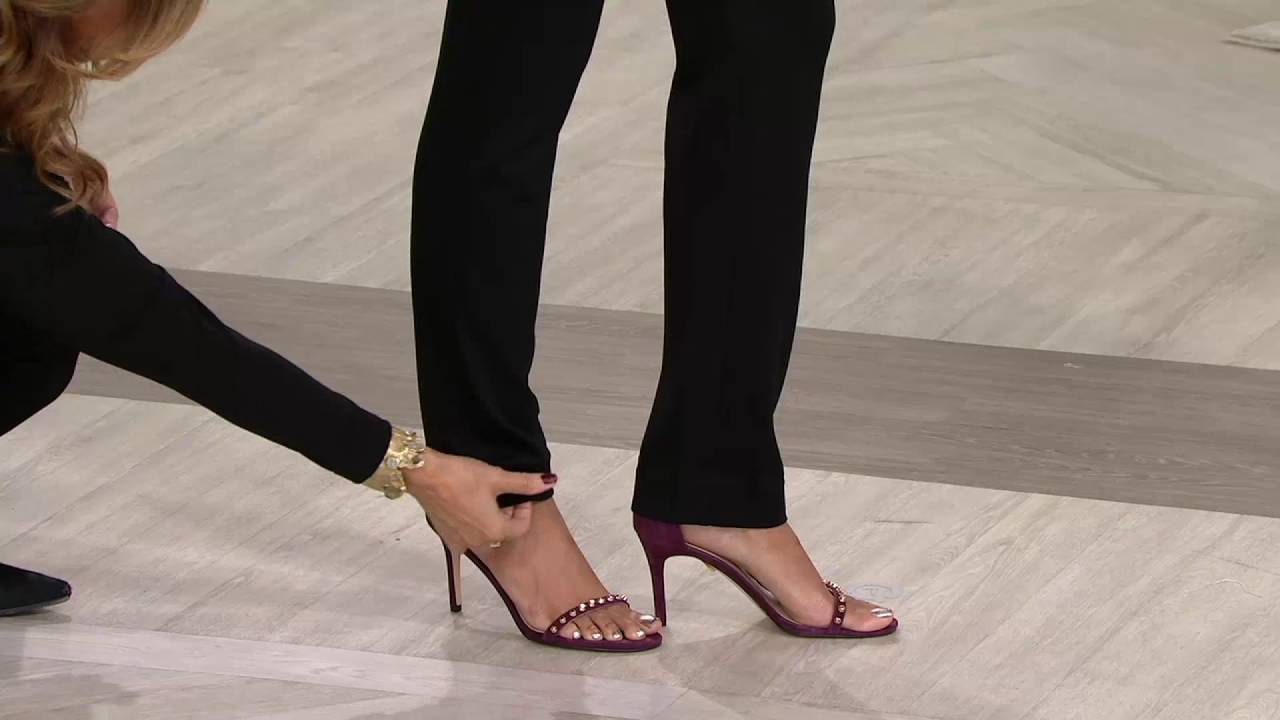 Susan Graver Ponte Knit Straight Leg Pull On Pants On Qvc Youtube