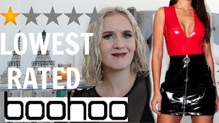 I BOUGHT THE LOWEST RATED ITEMS ON BOOHOO