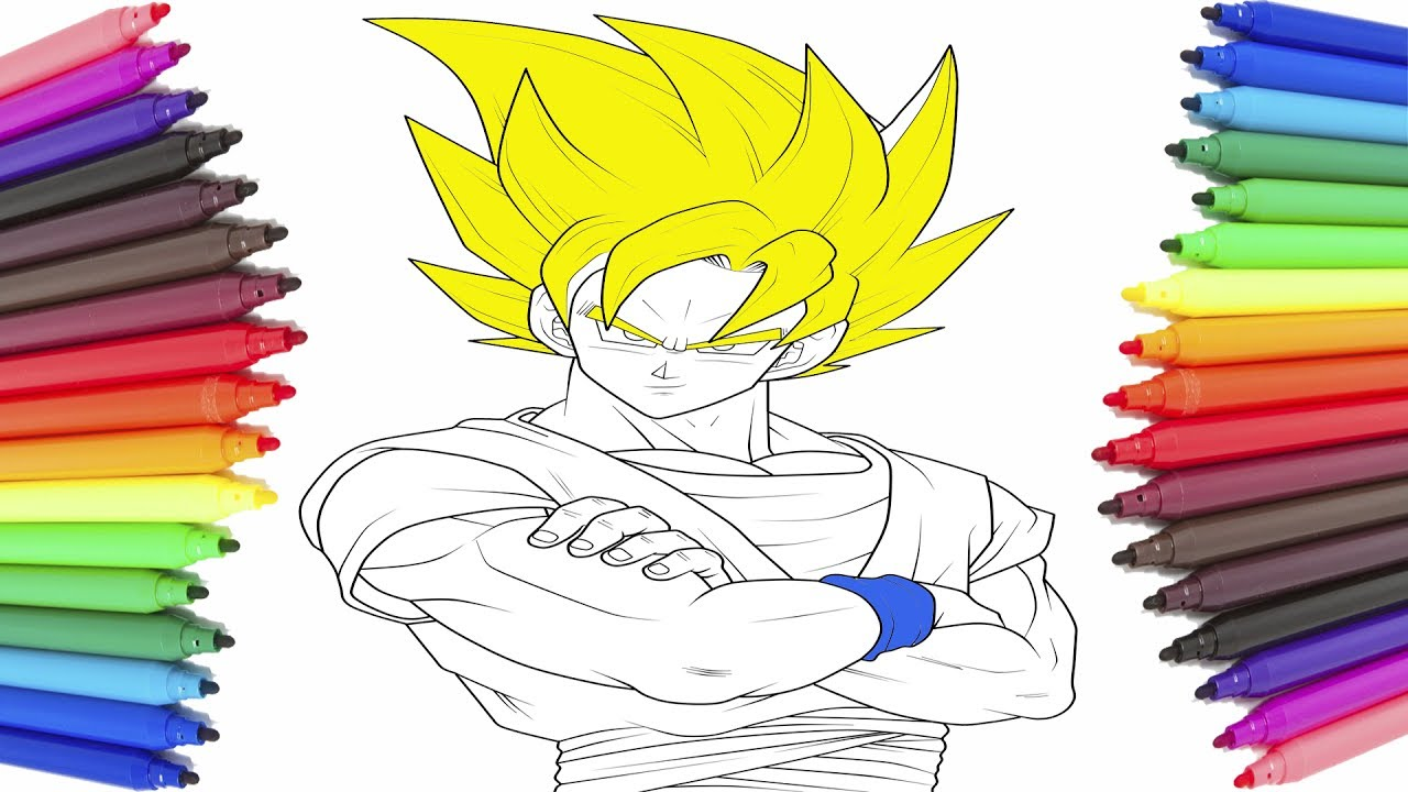 Coloring Pages Dragon Ball Super Best Compilation Episodes - Goku Cartoon Coloring Pages