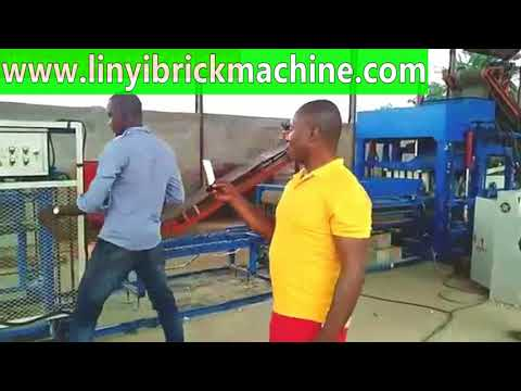 Nigeria QT4-15 hydraulic automatic cement interlocking paving brick machine production factory