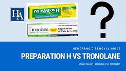 Preparation H vs Tronolane Reviews   Should You Buy Preparation H or Tronolane?