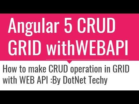Angular 5 CRUD Grid with WEB API