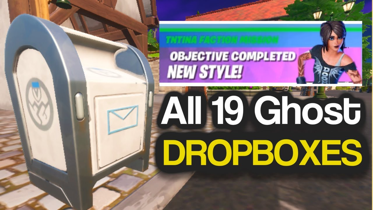 All Ghost Dropbox Locations In Fortnite Destroy Ghost Dropboxes