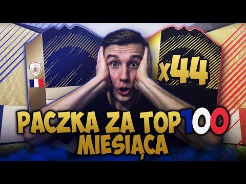 OTWIERAM PACZKĘ Z IKONĄ i 44 INFORMY za TOP 100 MIESIĘCZNE! 18x WALKOUT!  FIFA 18 FUT CHAMPIONS!
