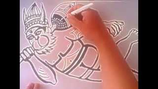 how to draw lord hanuman - fast version 100% ORIGINAL