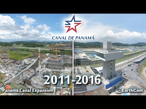 Official Panama Canal Construction Time-Lapse