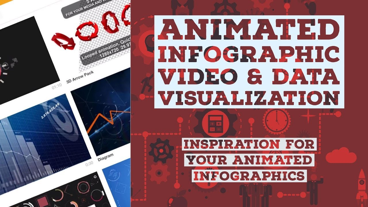 Inspiration for your animated infographics - Animated Infographics Tutorial [3/48]