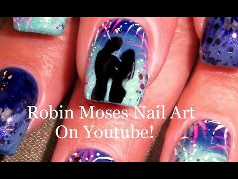 Diy Firework Nail Art Tutorial 4th Of July Nails Design Youtube