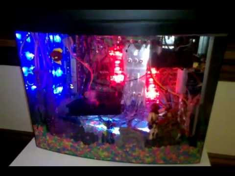 Aquarium PC!!! Mineral Oil Submerged Computer - ForGamersByGamers - YouTube