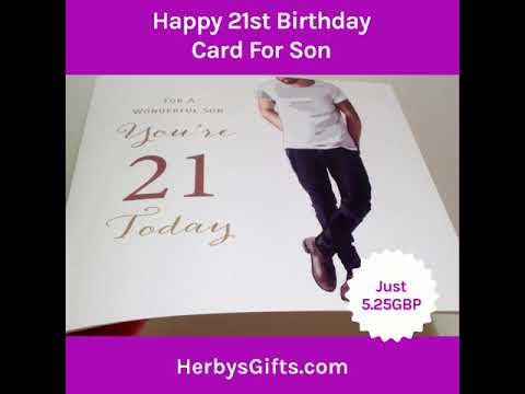 Happy 21st Birthday Card For Son 2019