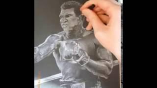 Dessin accéléré de Mohammed Ali ( speed drawing )
