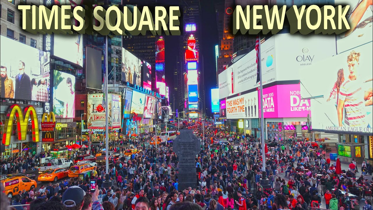 times square new york day night 4k youtube. Black Bedroom Furniture Sets. Home Design Ideas