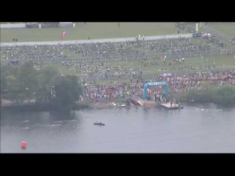 Tower camera shows footage of TriRock Triathlon in Downtown Austin