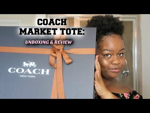 Coach Market Tote: Unboxing & Review