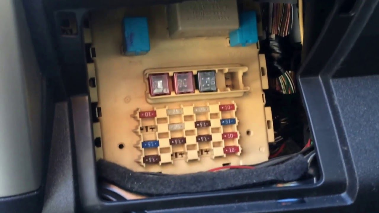 2005 scion xa fuse box location