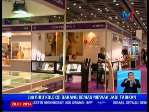 M'sia Int'l Jewellery Fair 2014 (18-21 JULY 2014) - TV1 NEWS