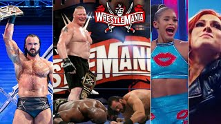 WWE WrestleMania 37 Winners Surprises Results Drew Wins WWE Title Brock Return Becky Shock