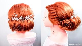 Прически греческая длинные волосы Прическа в греческом стиле 4 е пряди плетение коса Greek Hairstyle