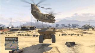 GTA V Online: How to  Dump truck and Cargobob