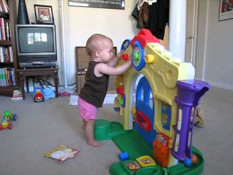 One Year Old Playing With Fisher Price Laugh And Learn Learning Home